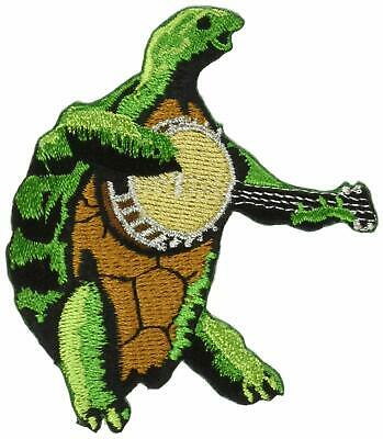 Grateful Dead Terrapin w/ Banjo Embroidered Iron On Patch Turtle 143-H
