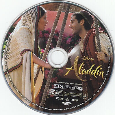 Aladdin live action 2019 Ultra HD 4k Blu-ray Disc only Disney Will Smith