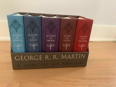 George R. R. Martin's a Game of Thrones Leather-Cloth Boxed Set (Song of Ice and
