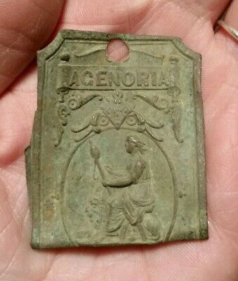 Rare Victorian Brass Plate From An Agenoria Sewing Machine Park Road Birmingham