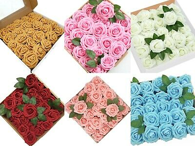 USA Shipping Craft foam artificial roses PACK OF 50 pcs