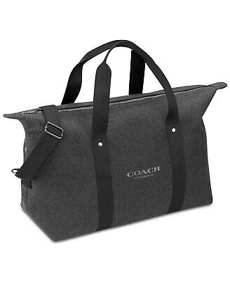 COACH fragrances men gray duffle carry on bag overnight gym travel weekender NEW