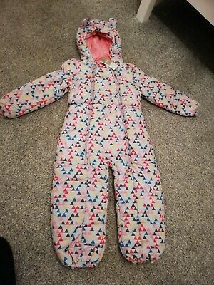 Cute Next girls Padded Snowsuit puddlesuit. BNWT. Size 5-6