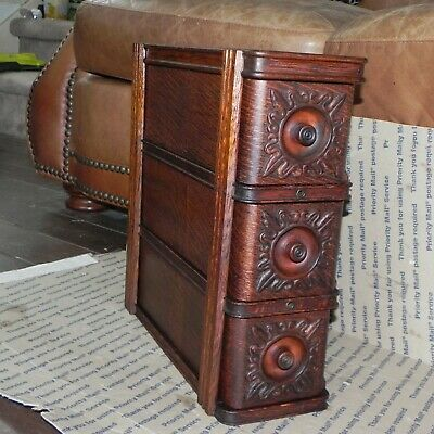 Vintage 1904 Singer Treadle Sewing Machine Draws - -  3 Draws And Mount