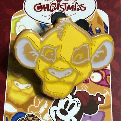 Disney Simba Lion King Mickey's Very Merry Christmas Party Mystery Cookie LR Pin