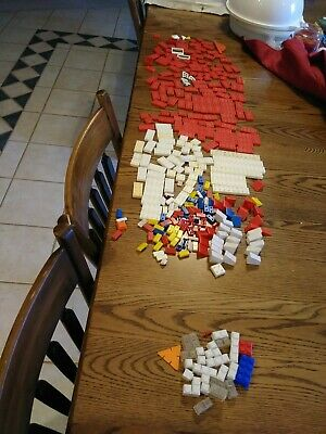 Vintage American Bricks Plastic Red White Elgo Halsam Windows Door HUGE LOT!