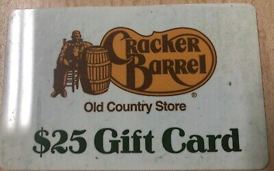 Cracker Barrel Gift Card $25 - No Expiration