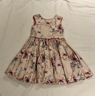 Gorgeous Pink Flower Ted Baker Girls Dress Age 3-4 Yrs