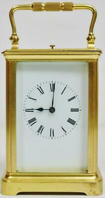 Antique French Original Gilded Ormolu 8 Day Striking Repeater Carriage Clock