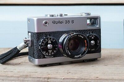 Rollei 35 S 35mm film camera with Sonnar 40mm f2.8 lens - original case & manual