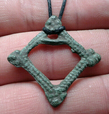 Ancient Celtic Bronze Amulet Pendant