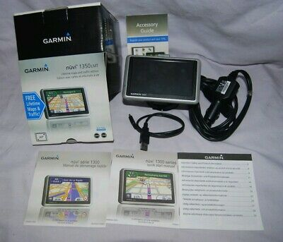 Garmin Nuvi 1350LM GPS with mount, box, charger. FREE lifetime map updates!