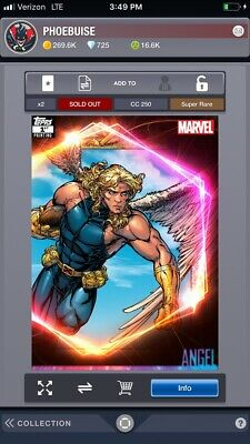 topps marvel collect digital Ultimate Universe Angel First Print Super Rare