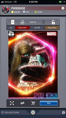 Topps Marvel Collect Spider-Woman ULTIMATE UNIVERSE 1st Printing [DIGITAL] 250cc