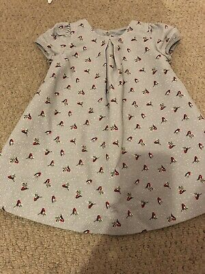 Mothercare Robin Christmas Dress Baby Girls 3-6 Month