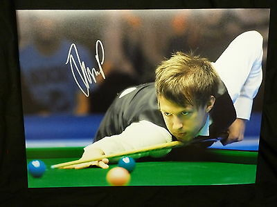 Judd Trump Signed Snooker Large Photograph F