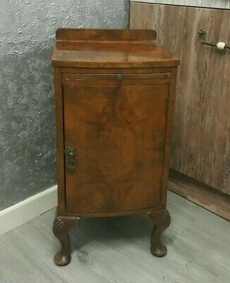 Antique Victorian Solid Brown Wooden Cupboard/ Bedside Cabinet