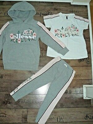 Ellesse girls full tracksuit size 5-6 years