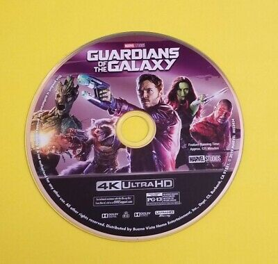 Marvel Guardians Of The Galaxy 1 4K Disc Only
