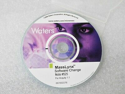 Waters 667002276 Masslynx Software Change Note #525 For Acquity 1.1