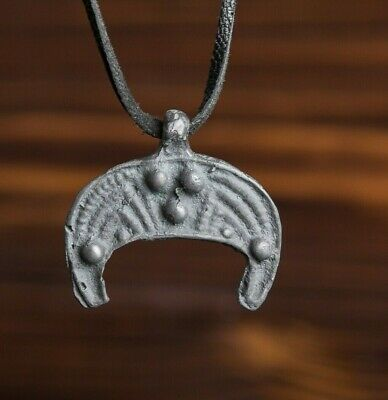 Viking Pendant Lunula 9th-11th Century AD, Unique Scandinavian Amulet, Pagan