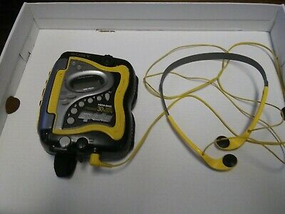 Sony Sports Walkman WM-FS420 Yellow Cassette Tape Player W Headphones