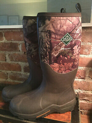 "MUCK BOOTS ~ Woody Max 16"" Waterproof Mossy-Oak Camo Winter Hunting Boots ~Sz 13"