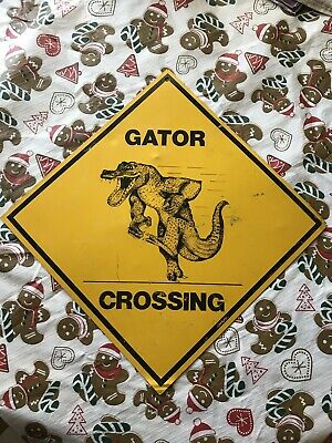 Gator Crossing Sign Used