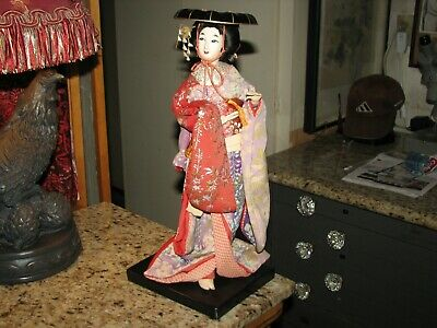 Vintage Japanese Geisha girl cloth doll