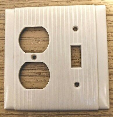 Single Toggle Two Outlet Bakelite Plate Cover Uniline