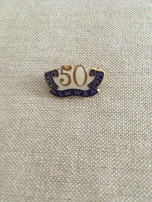 Collectable - Vintage - NSW WBA - 50 Years - 1929-1979 - Badge