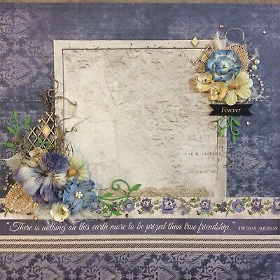 handmade scrapbook page 12 X 12  True Friendship Themed Layout