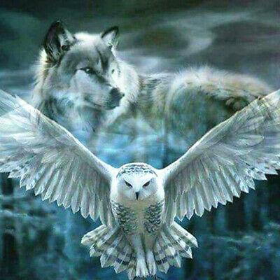 5D Full Diamond Painting Owl Wolf Harry Potter Embroidery DIY Home Decor GIFT