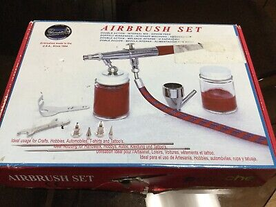 ~L@@K~ Paasche VL-SET Double Action Siphon Feed Airbrush Set + More