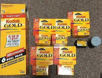 Kodak Gold 100 35mm Camera Film 6 Roll Pack- See Description