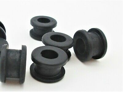 13mm ID Metric Rubber Grommets for 19mm hole. 25mm OD, Fits 8mm- 10mm Panel.