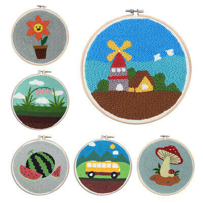 Punch Needle Embroidery Kit Includes Punch Embroidery Pen - Cartoon Pattern