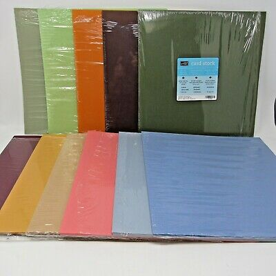 Stampin' up Card stock Lot of 11 partial packages various colors 12 x 12  120+