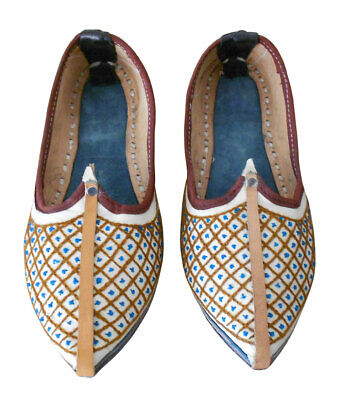 US INDIAN LEATHER Men Shoes Punjabi Jutti Ethnic Aladdin