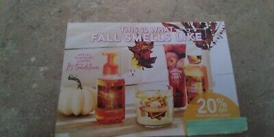 Bath & Body Works 20% Online Coupon Exp 1/13/20