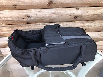 Phil & Teds Cocoon Carrycot Baby Toddler Carrier Bag Black / Preowned