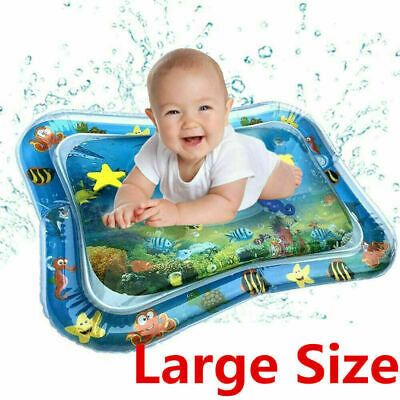 Inflatable Water Mat Infant Toddlers Mattress Splash Playmat Tummy Time Baby SW