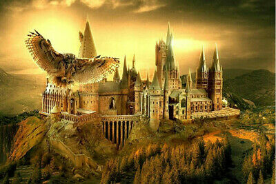 DIY 5D Full Diamond Painting Harry Potter Castle Embroidery Kits UK Gifts