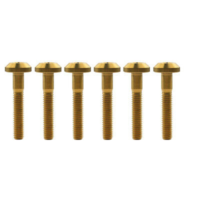 M8 Titanium Bolts 25mm Bicycles Umbrella Hex Head Allen Ti Bolt Screws Pack of 6