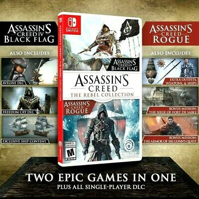 Assassins Creed Rebel For the Nintendo Switch + Lite Console IV Black Flag Rogue