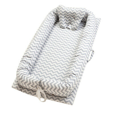 Baby Nest Grey Wave Baby Bassinet for Bed/Lounger/Nest/Pod/Cot/Sleeping Travel