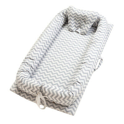 Baby Nest Bed Grey Wave Baby Lounger Co-Sleeping Newborn/ Baby Bassinet Crib Uk