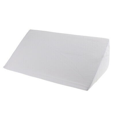 Bed Wedge Pillow Back Cushion Bolster for Sleep Relax with Washable Cover White