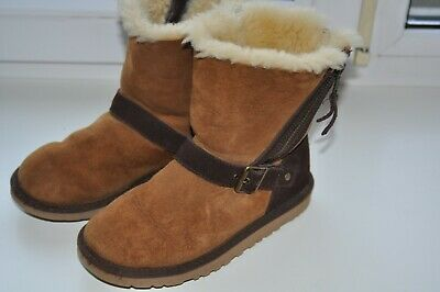Kids UGG Australia  BLAISE Sheepskin  Boots 1004138K Brown Chestnut UK1/EU32/US2