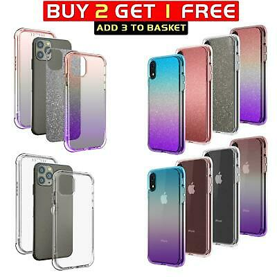 Glitter Case for iPhone 11 Pro 8 7 6 Plus XR XS MAX Cover ShockProof 360 TPU Gel